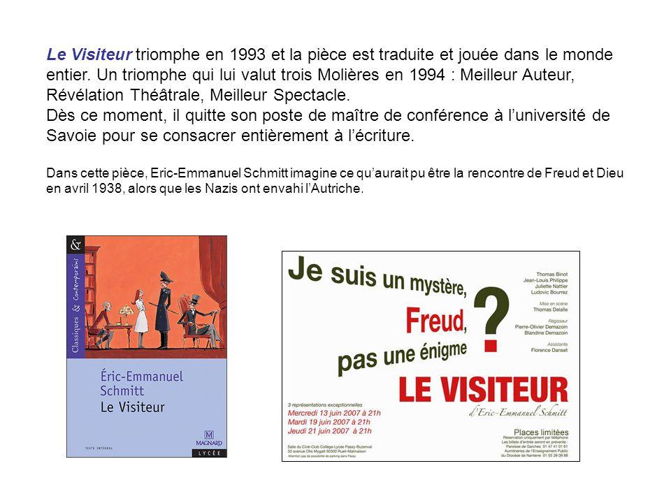 Deux autres pièces suivent : Golden Joe (1995), une réflexion sur le capitalisme, et Variations énigmatiques (1996), jouée à Paris par Alain Delon et Francis Huster.