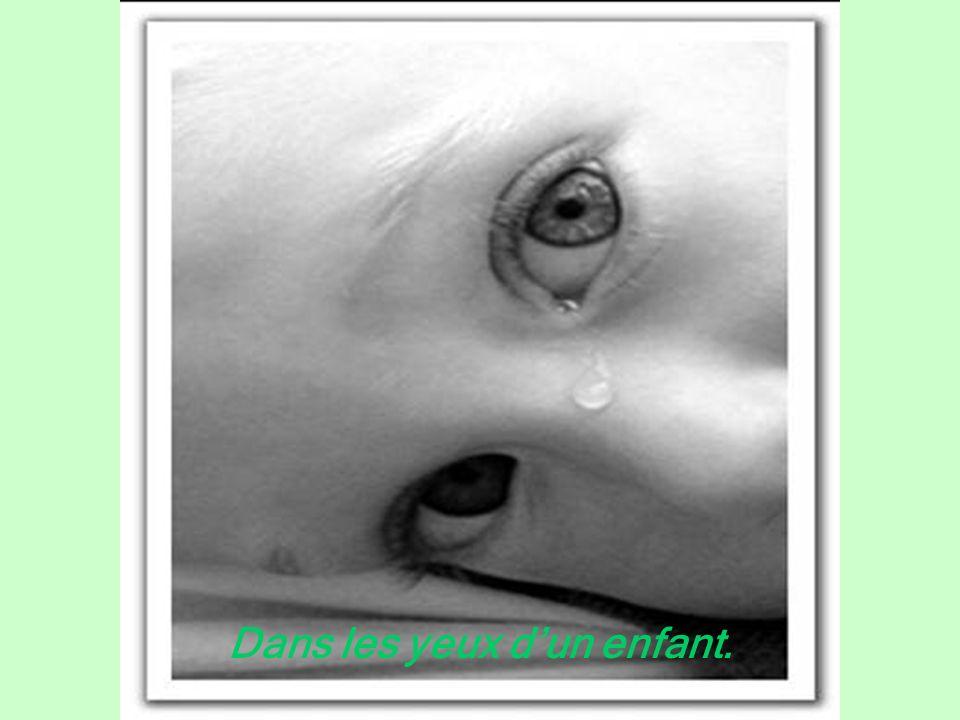 Dans les yeux dun enfant.
