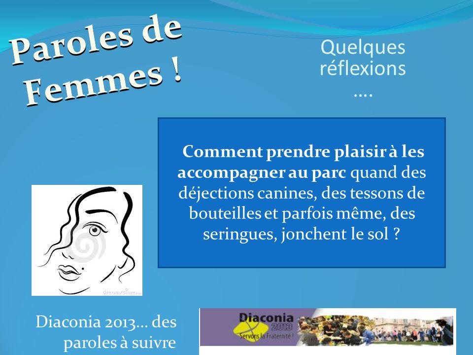 Diaconia 2013… des paroles à suivre Comment expliquer à vos enfants qu il faut jeter ses mouchoirs dans la poubelle et ne pas le jeter sur la voie publique .