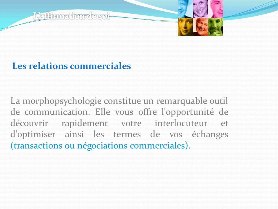 La morphopsychologie constitue un remarquable outil de communication.