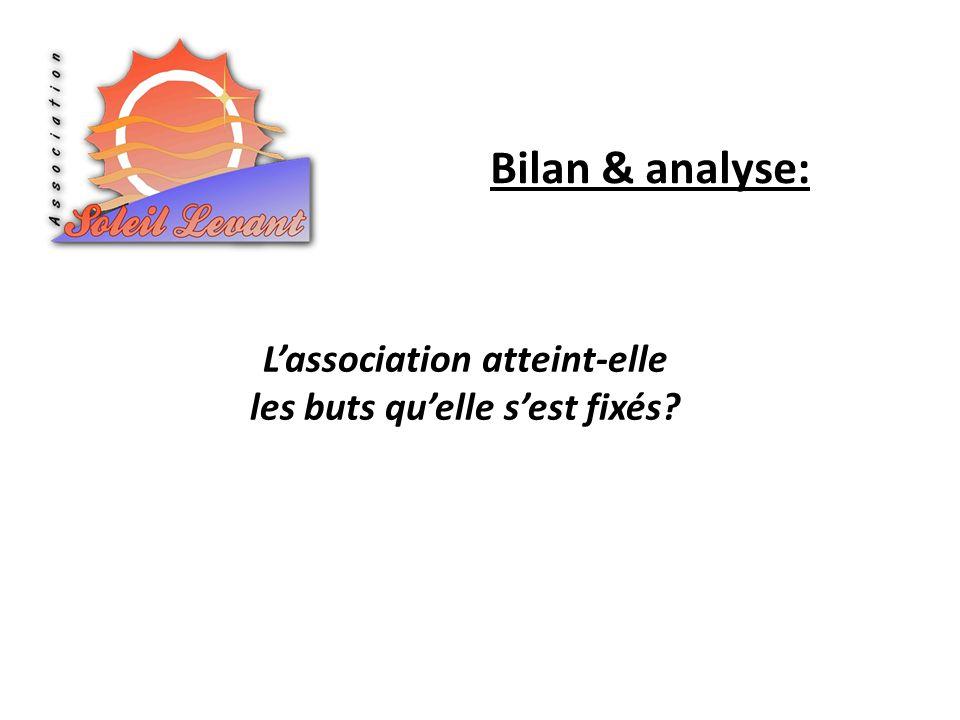 Bilan & analyse: Lassociation atteint-elle les buts quelle sest fixés?
