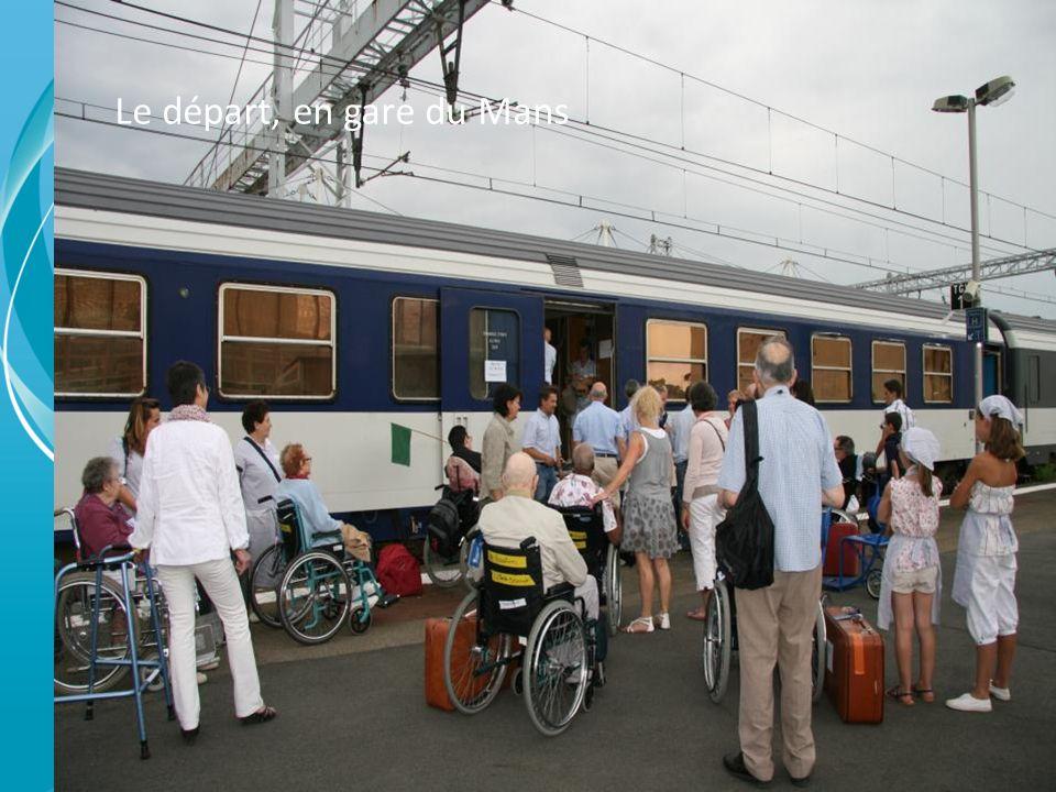 Le départ, en gare du Mans