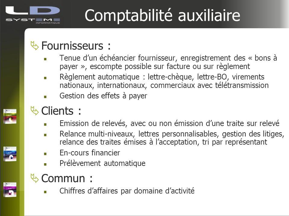 Comptabilité auxiliaire Fournisseurs : Tenue dun échéancier fournisseur, enregistrement des « bons à payer », escompte possible sur facture ou sur règ