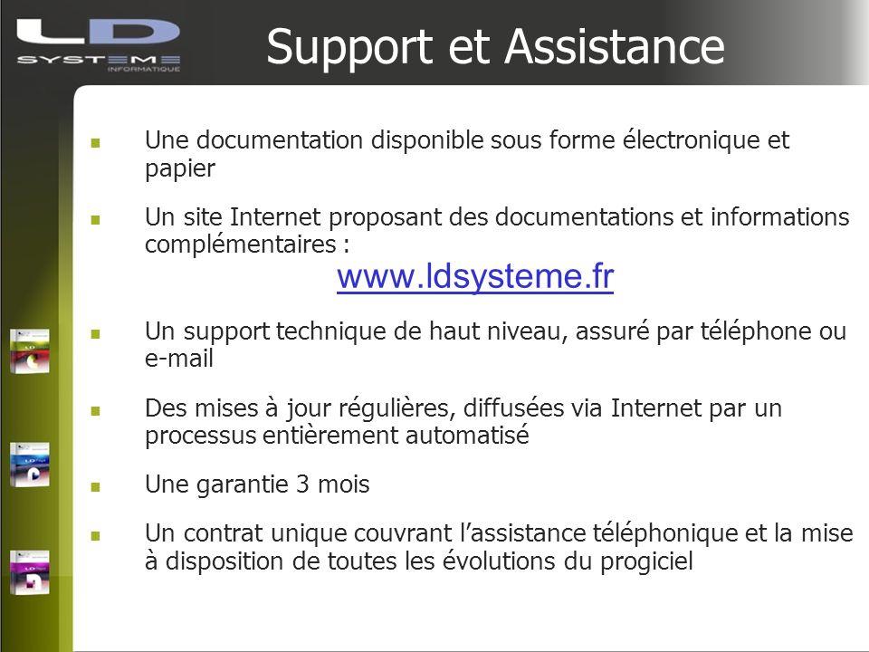 Support et Assistance Une documentation disponible sous forme électronique et papier Un site Internet proposant des documentations et informations com