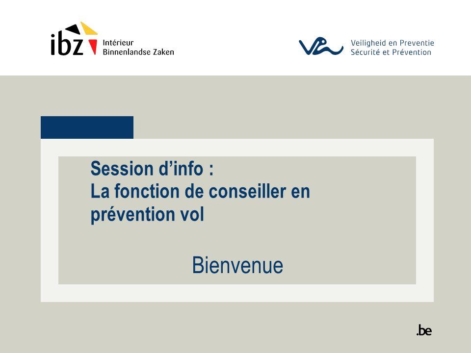 Session dinfo : La fonction de conseiller en prévention vol Bienvenue
