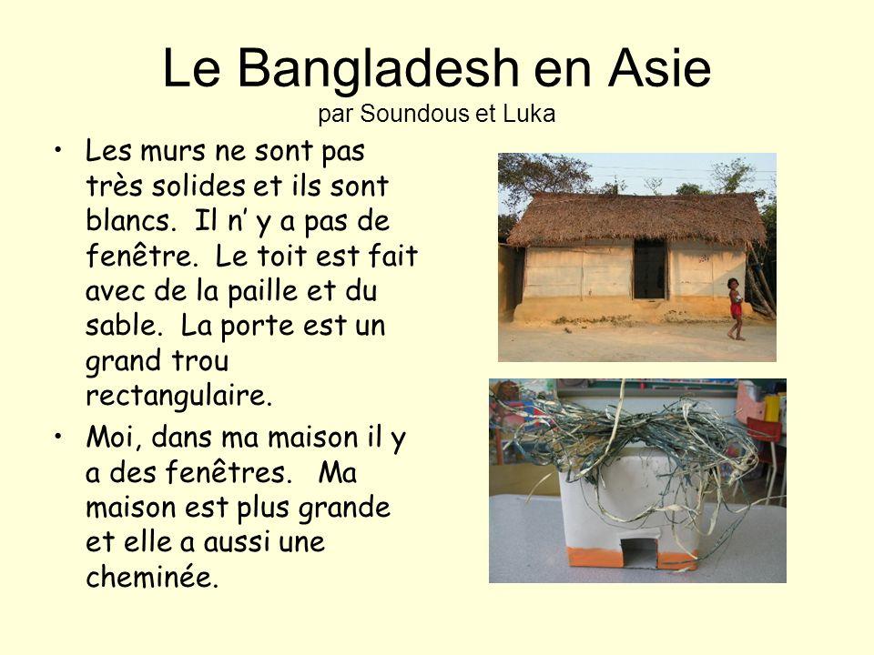 Le Kenya en Afrique par Liubava et Marie-Eve Les murs sont faits en bois. Il ny a pas de fenêtres. Le toit est fait en paille. Il y a des poteaux de b