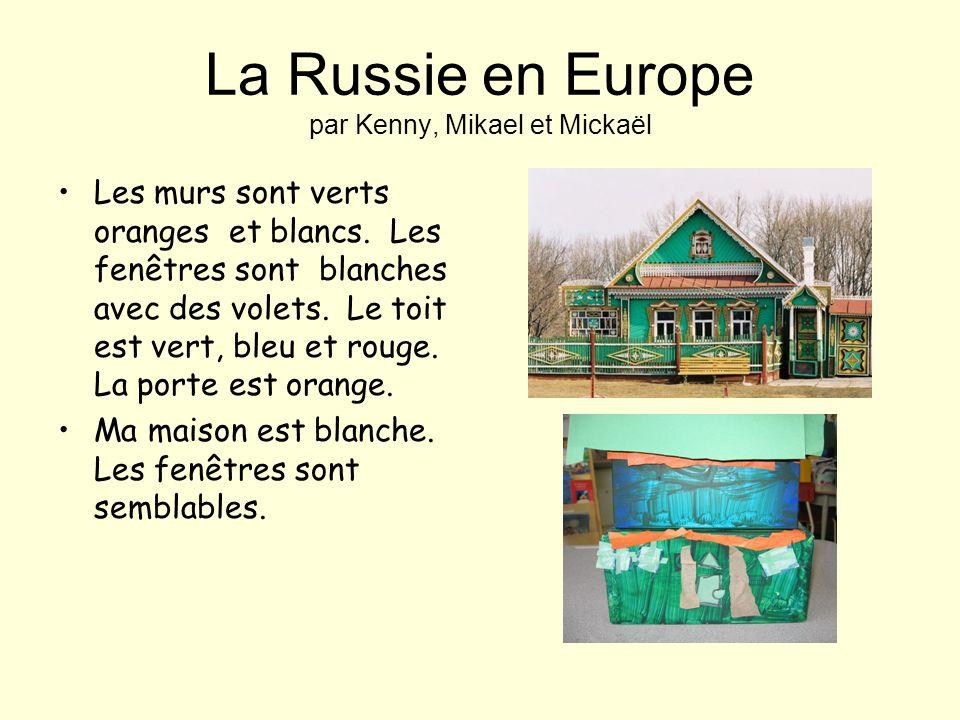 LIrlande en Europe par Romane et Sadaf Les murs sont en briques il y a des plantes grimpantes. Le toit est fait en bois. Les fenêtres sont fait en boi
