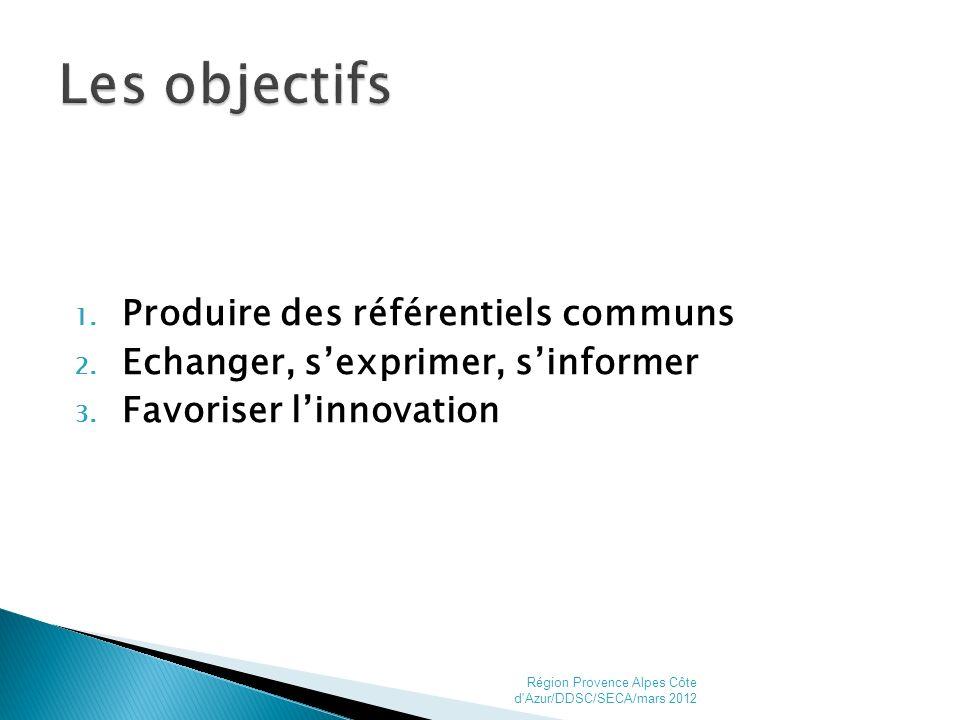 1. Produire des référentiels communs 2. Echanger, sexprimer, sinformer 3.