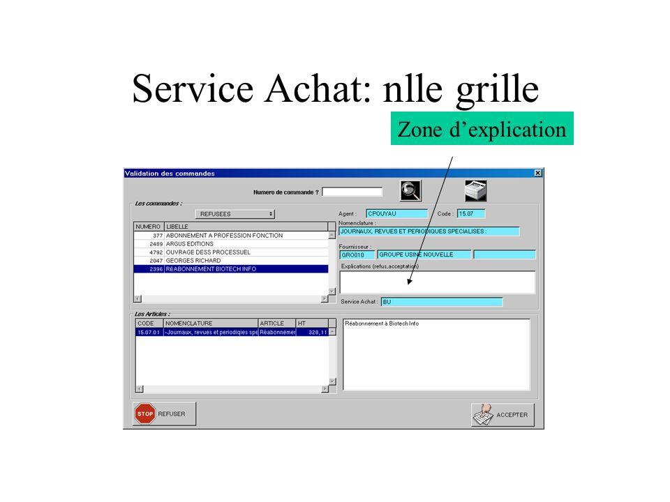Service Achat: nlle grille Zone dexplication