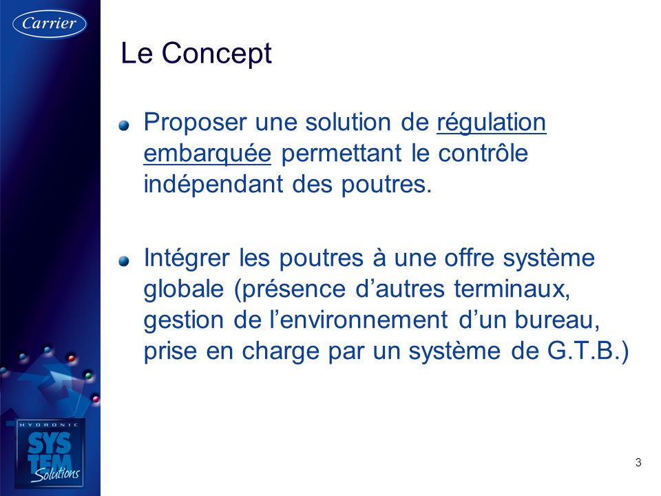 3 Proposer une solution de régulation embarquée permettant le contrôle indépendant des poutres. Intégrer les poutres à une offre système globale (prés