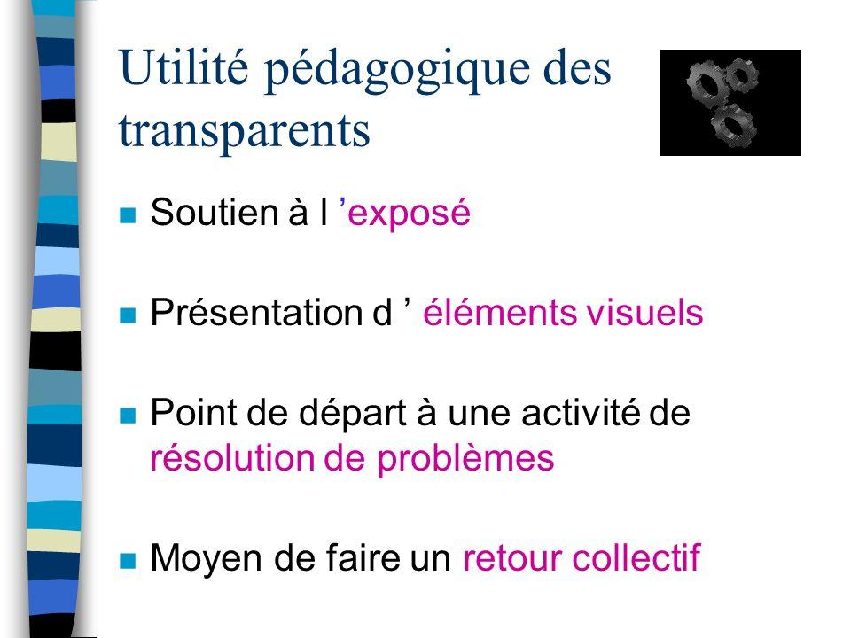 Plan de la rencontre #9 n Retour n Utilisation pédagogique des transparents n Introduction à un logiciel de présentation (Powerpoint) n Activité