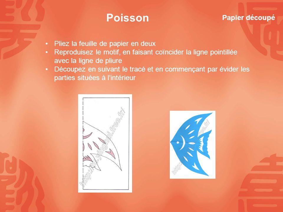 Plier la feuille en deux dessiner, le côté en pointillés sur la pliure découper, en commençant par lintérieur, cest-à-dire par les parties à évider Le papillon Papier découpé
