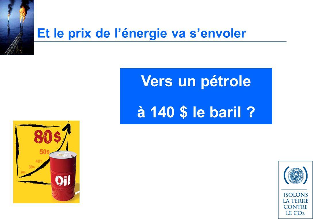 Et le prix de lénergie va senvoler Vers un pétrole à 140 $ le baril ?