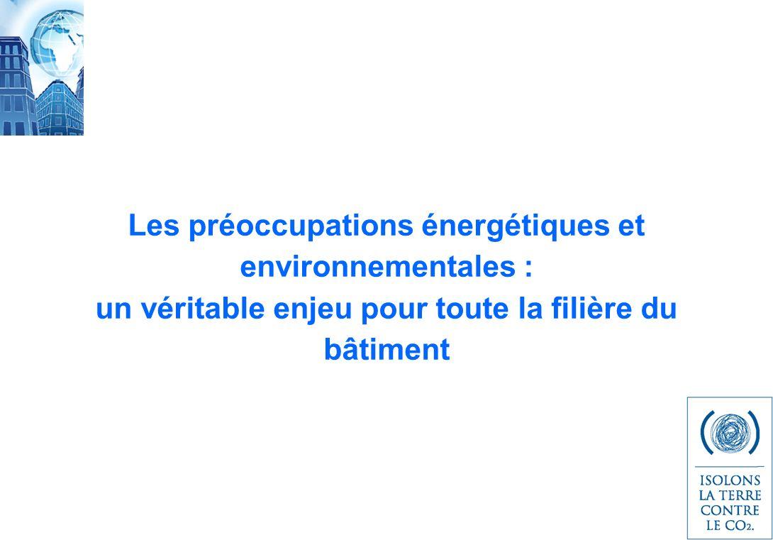 Les préoccupations énergétiques et environnementales : un véritable enjeu pour toute la filière du bâtiment