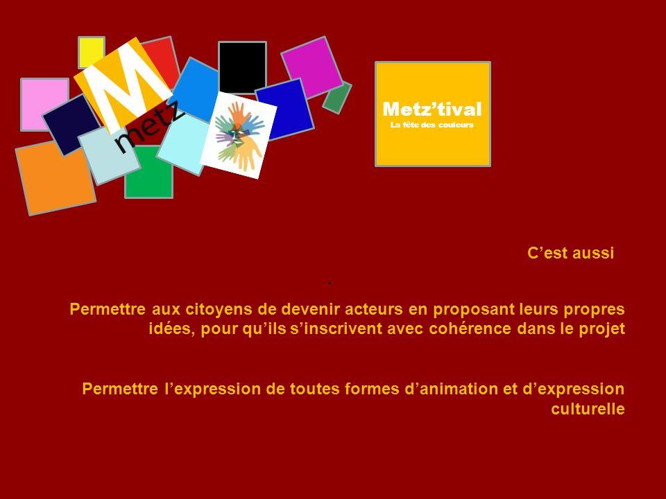 Le Metztival sera porté par la fédération Familles de France 57 en partenariat avec la Ville de Metz et ses comités de quartier.