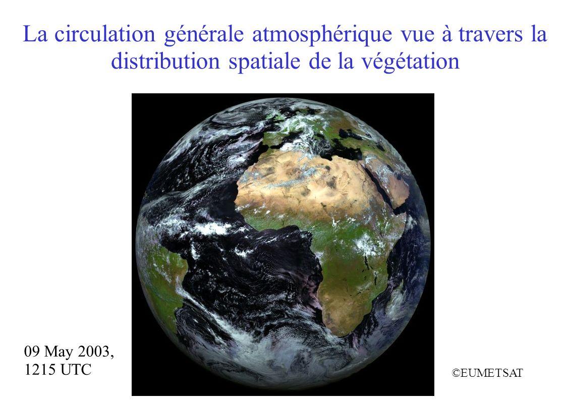 La circulation générale atmosphérique vue à travers la distribution spatiale de la végétation 09 May 2003, 1215 UTC ©EUMETSAT