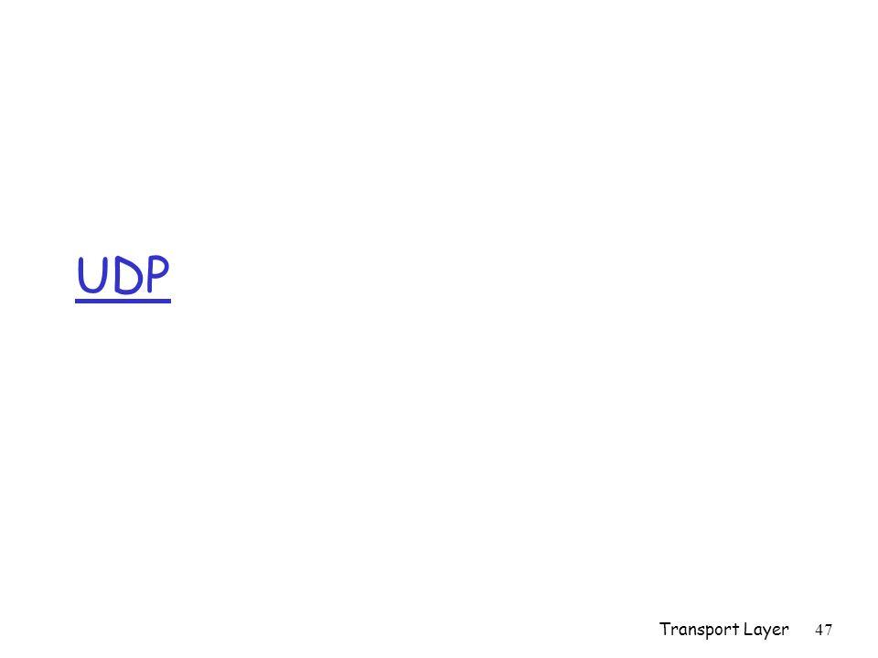 Transport Layer47 UDP