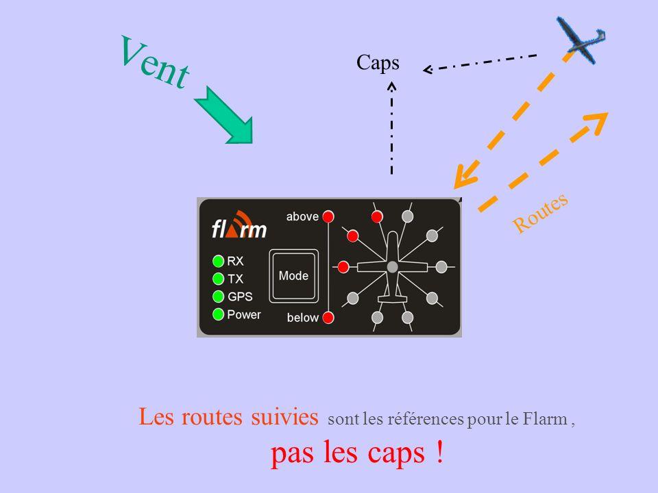 Indication des aéronefs FLARM 2005 Mnémonique: Imaginez les fenêtres du cockpit dun avion de ligne... (Ou celui dun bateau qui traverse un fleuve) Le