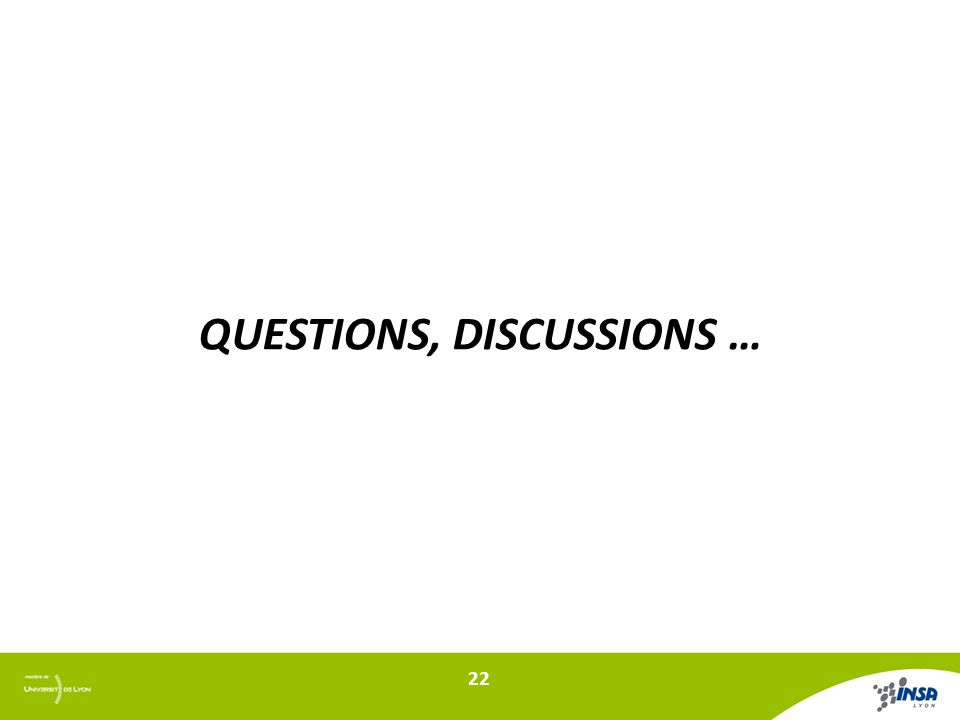QUESTIONS, DISCUSSIONS … 22