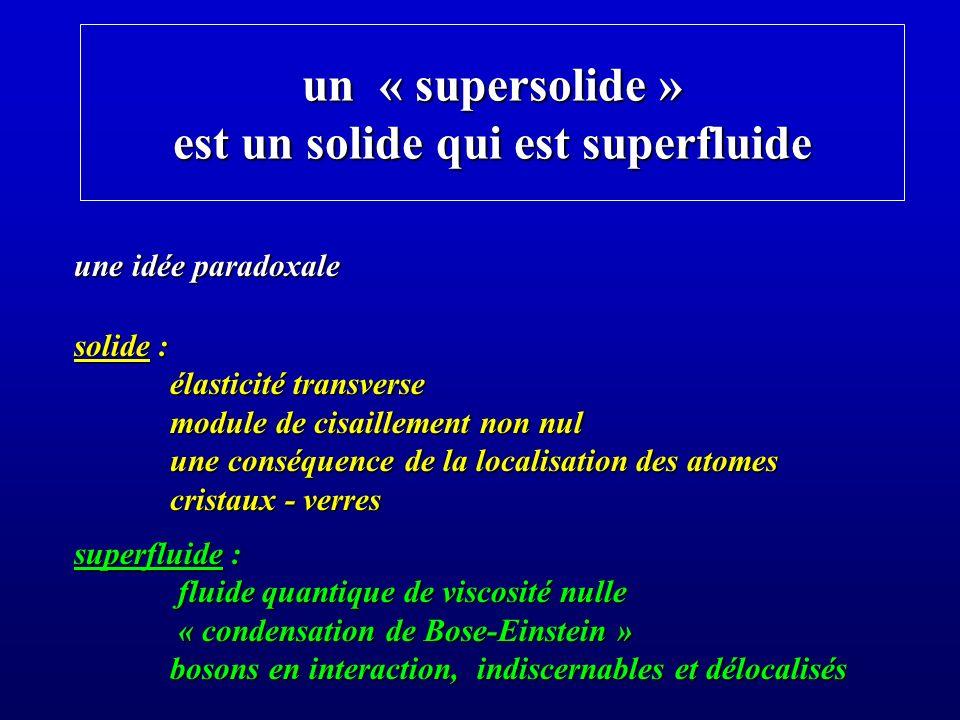 lhélium 4 solide peut-il couler comme un superfluide .