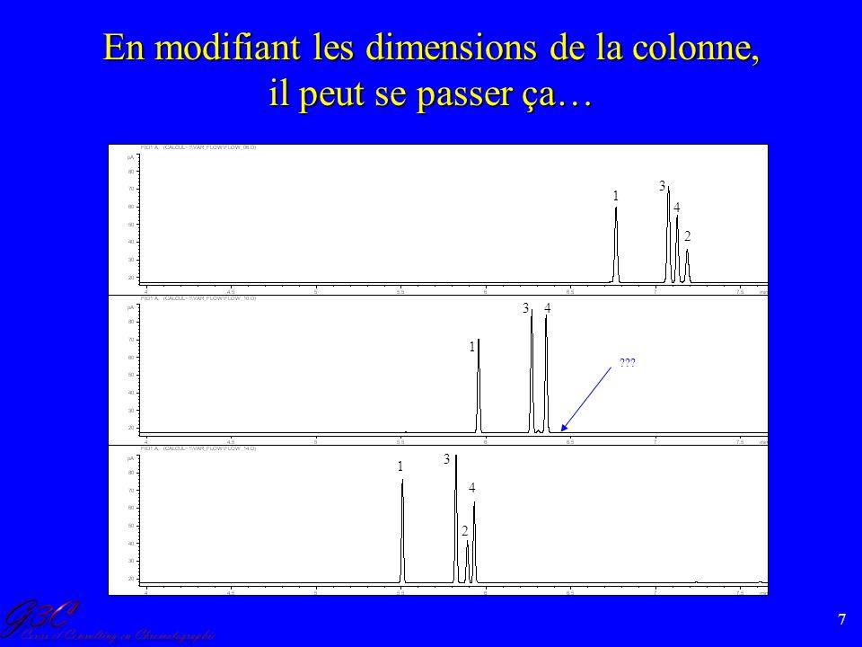 7 En modifiant les dimensions de la colonne, il peut se passer ça… ??? 1 2 3 4 1 3 4 1 3 2 4
