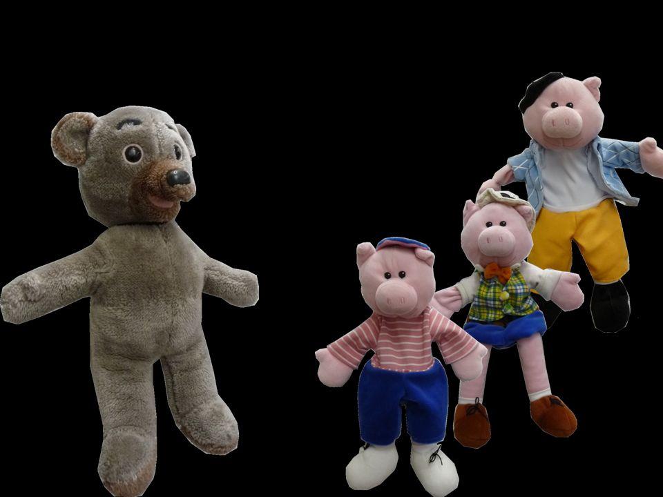 Les 3 cochons senfuient à toutes pattes et se retrouvent sous la grosse pluie.