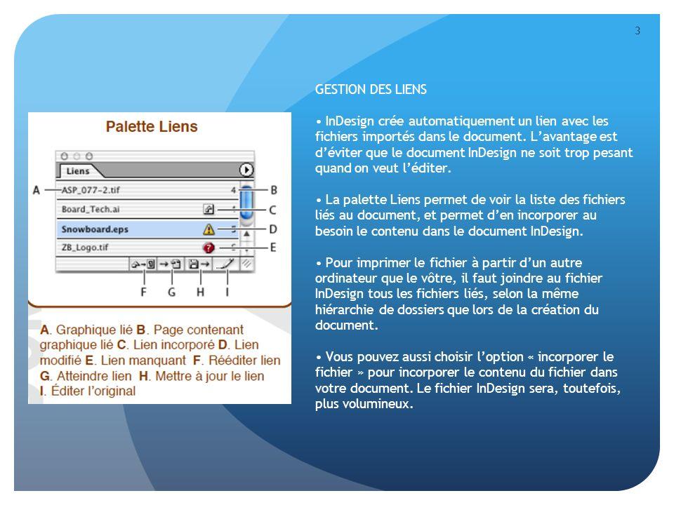 4 TRAITEMENT DES TEXTES Le mode Éditeur est la fonction de traitement de texte de InDesign.
