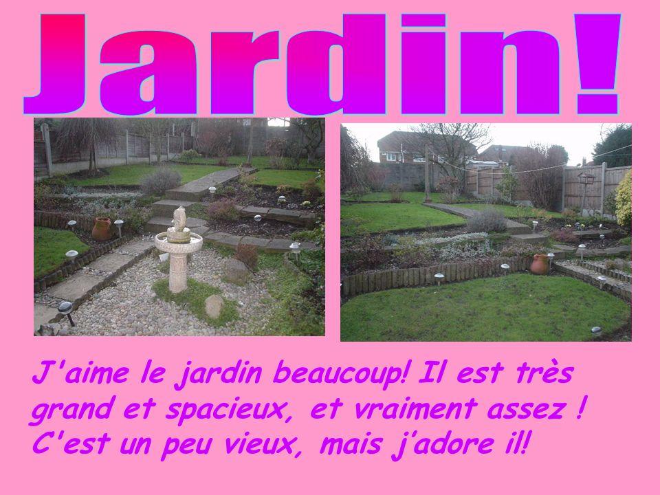 J'aime le jardin beaucoup! Il est très grand et spacieux, et vraiment assez ! C'est un peu vieux, mais jadore il!