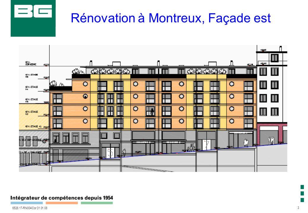 3 6528.17-RN004 Cor 31.01.08 Rénovation à Montreux, Façade est