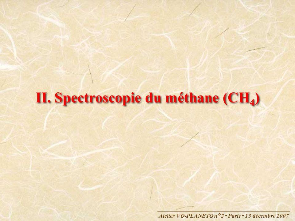 Atelier VO Besançon 10 mars 2009 Plus compliqué : SF 6 ObjectifsObjectifs 2009 : Développer un service « méthane » dans le cadre de VAMDC Autres molécules (SF 6, C 2 H 4, …) Cas plus complexes : spectroscopie rovibronique (CH 3 O, …)