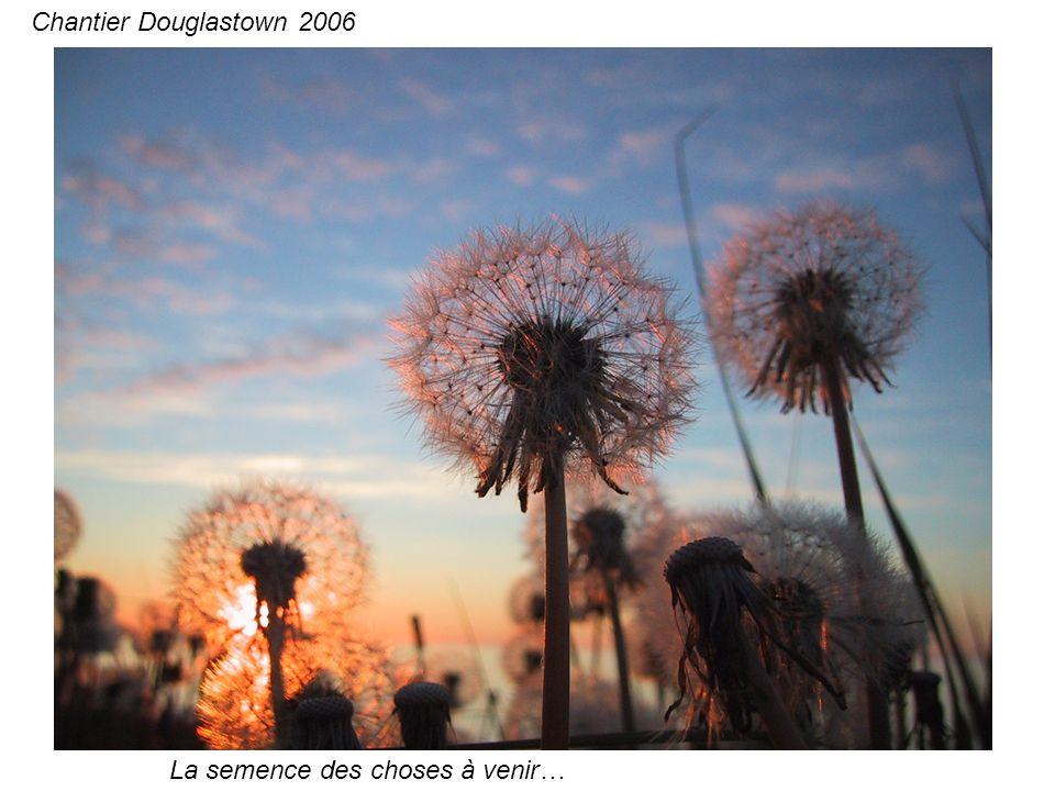 Eric le dynamique, homme de tout les talents… Chantier Douglastown 2006