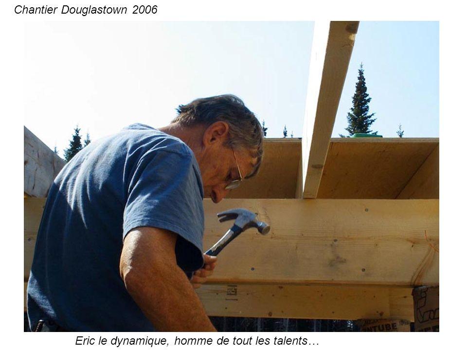 Le plancher pour la nouvelle partie… Chantier Douglastown 2006