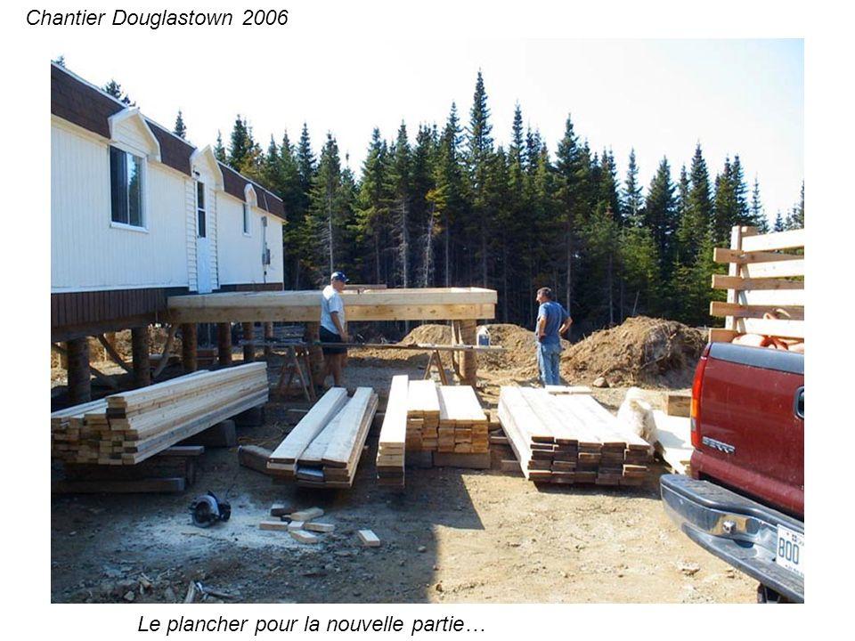 Poêle, avant et après… Chantier Douglastown 2006