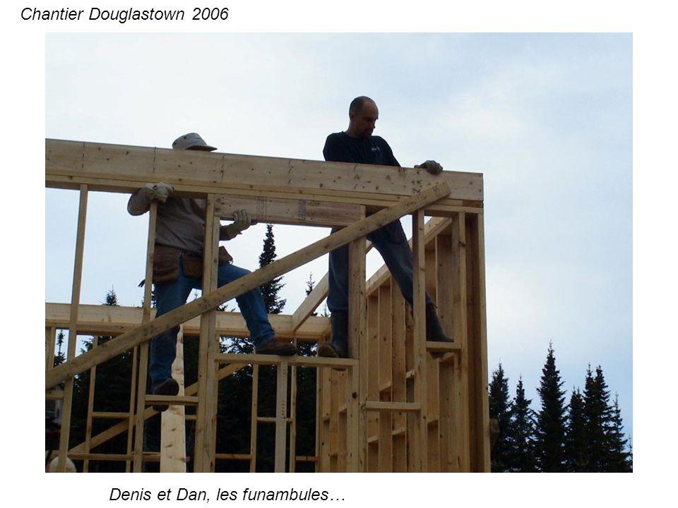 Denis et Dan, les funambules… Chantier Douglastown 2006