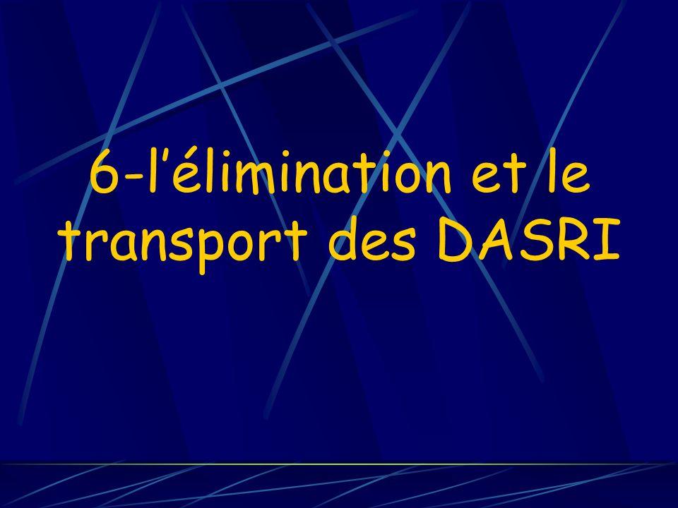 6-lélimination et le transport des DASRI