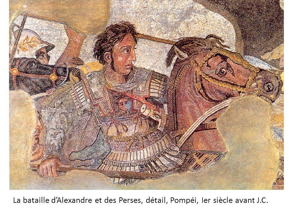 La bataille dAlexandre et des Perses, détail, Pompéi, Ier siècle avant J.C.