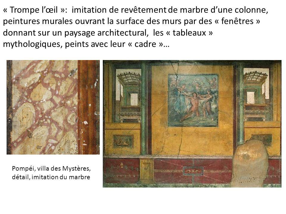 … ou personnages peints: peinture murale, Villa des Mystères, Pompéi, vers 50 av. J.C.