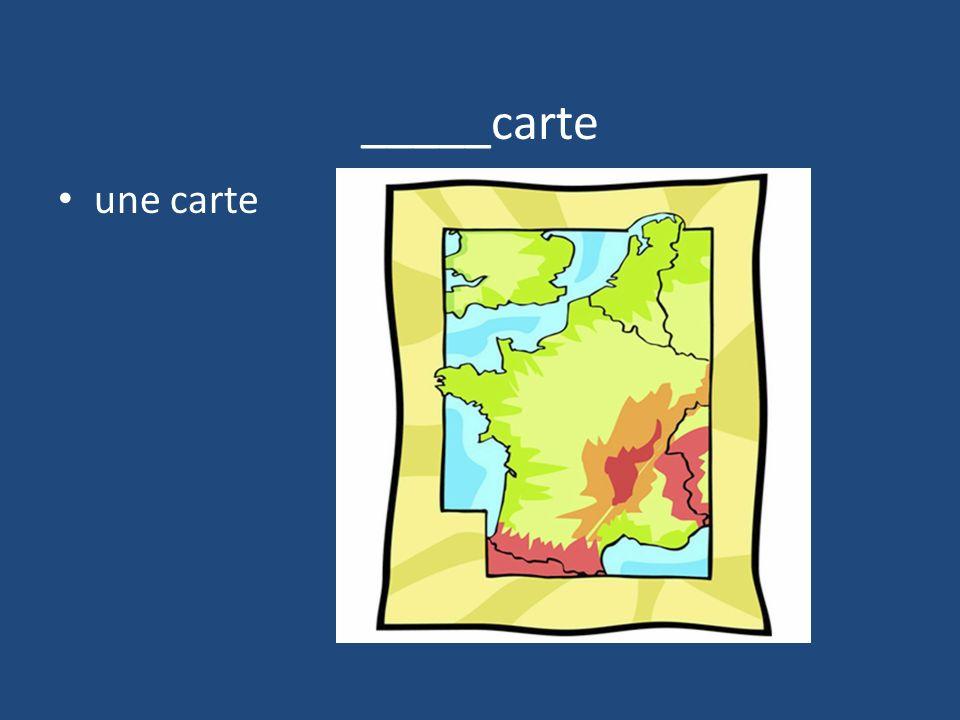 _____carte une carte