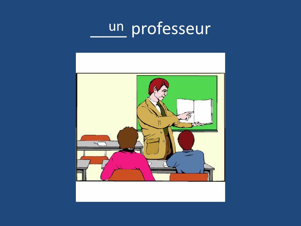 ____ professeur un