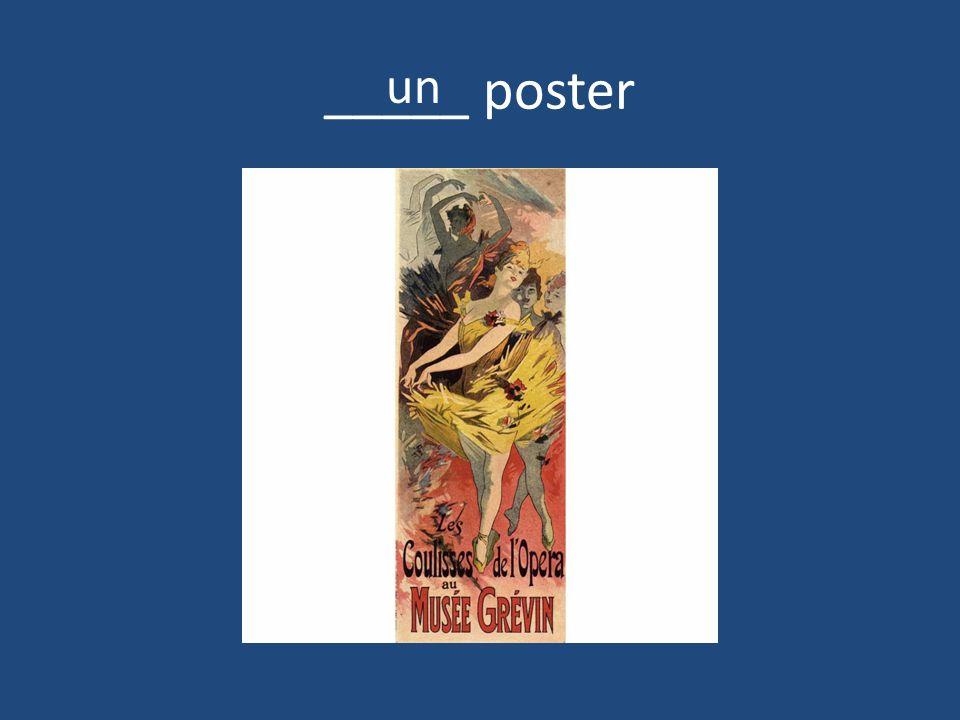 _____ poster un