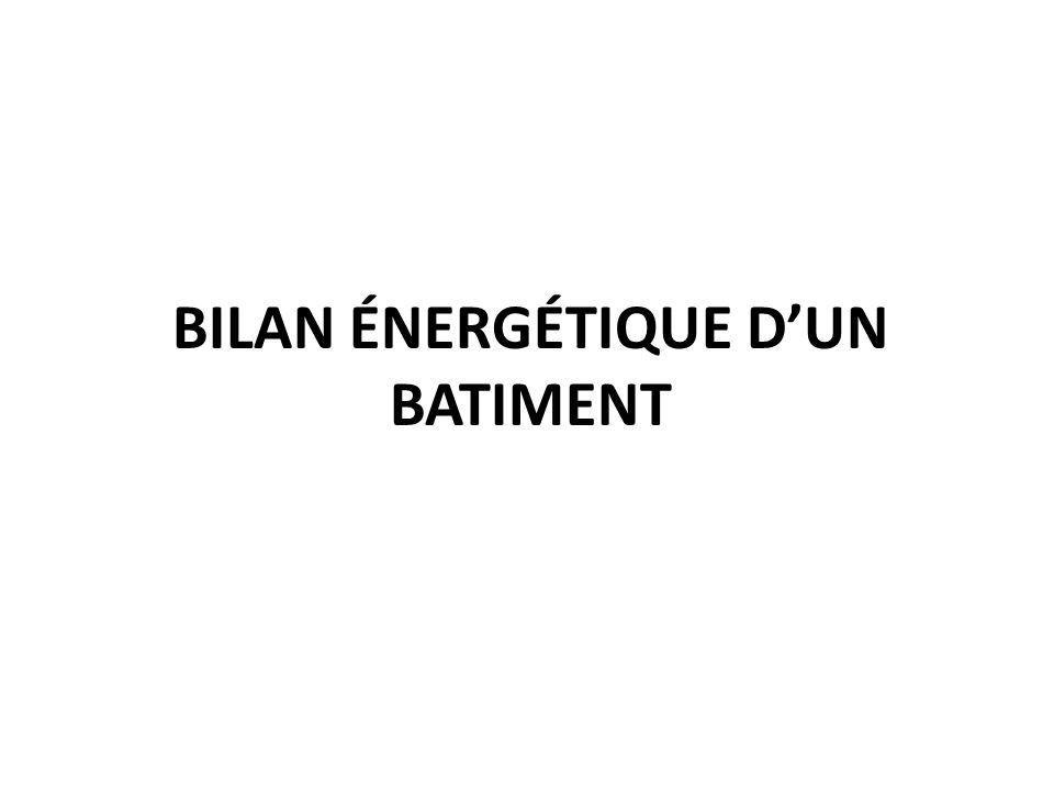 BILAN ÉNERGÉTIQUE DUN BATIMENT
