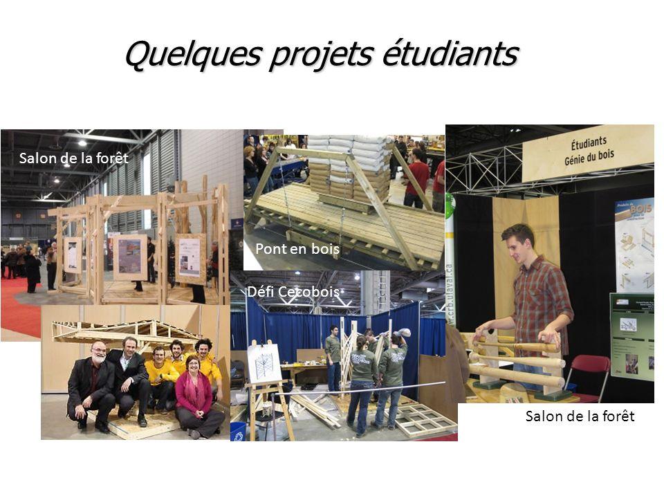 Quelques projets étudiants Salon de la forêt Pont en bois Défi Cecobois Salon de la forêt