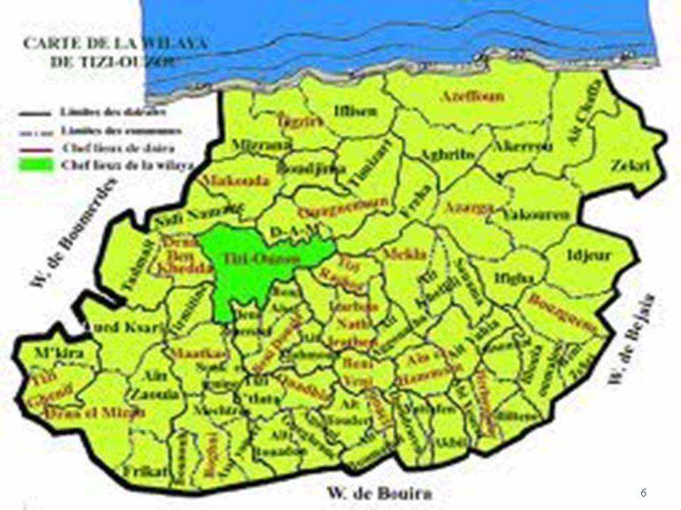 GEOGRAPHIE 21 DAIRATES 67 COMMUNES 1.140.000 hab.(316 hab./km²) 3568 km² 5
