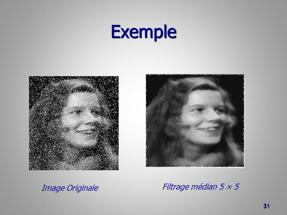 Exemple 31 Filtrage médian 5 × 5 Image Originale
