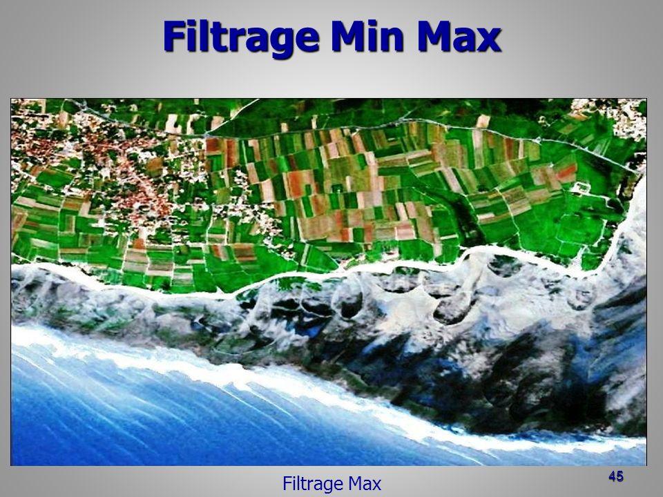 Filtrage Min Max 45 Filtrage Max