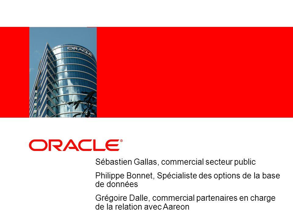 Sébastien Gallas, commercial secteur public Philippe Bonnet, Spécialiste des options de la base de données Grégoire Dalle, commercial partenaires en c
