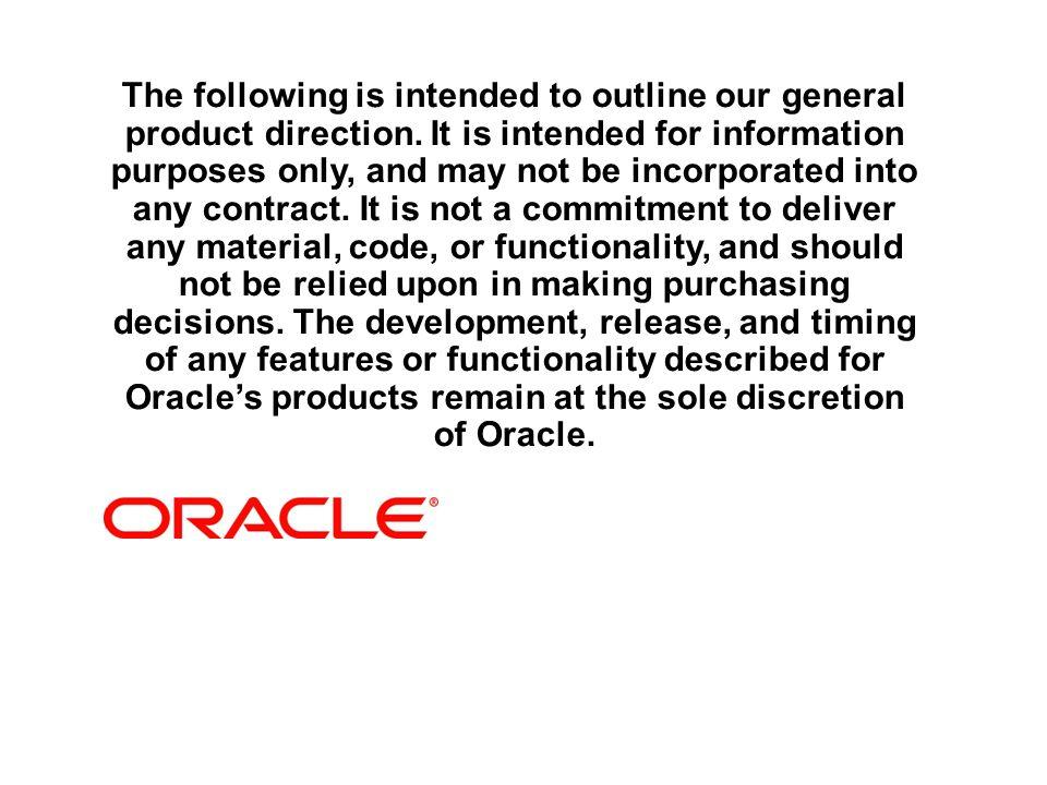 Oracle -Agenda - Oracle en bref et stratégie -- Problématiques sectorielles retenues -- Partitioning et Advanced Compression -- Dataguard et Real Application Clusters(RAC) -- Oracle Dabase Appliance(ODA) -- Conclusion et questions/réponses