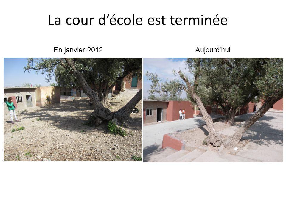 En janvier 2012 La cour décole est terminée Aujourdhui