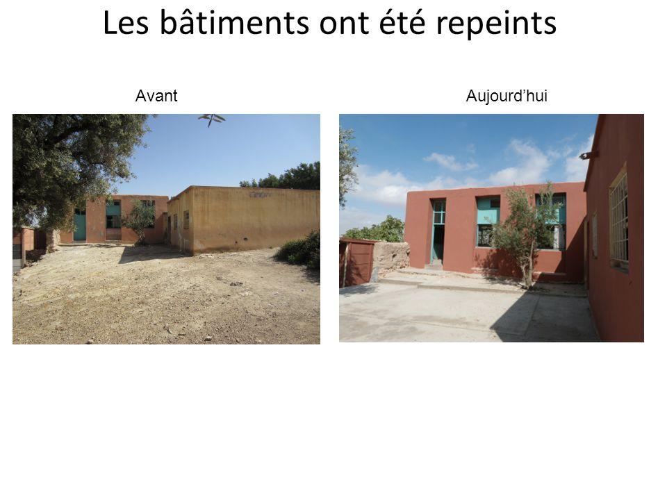 Les bâtiments ont été repeints AvantAujourdhui