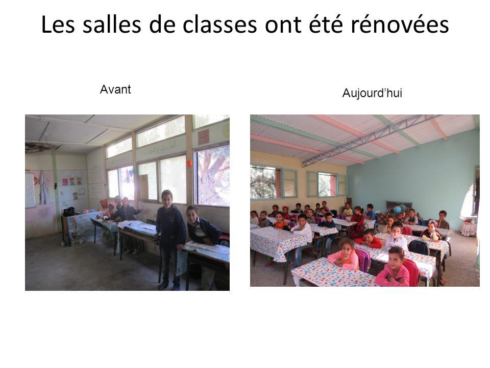 Les salles de classes ont été rénovées Avant Aujourdhui